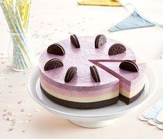 Blåbärs-, apelsin- och halloncheesecake med Oreo | Recept ICA.se