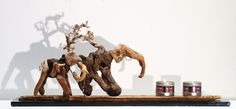"Driftwood elephants sculpture candle holder  ""SAVANE"" . by driftwoodartwork on Etsy"