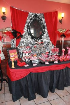 Moulin Rouge/burlesque Birthday Party Ideas | Photo 1 of 66 | Catch My Party - Bachelorette ideas