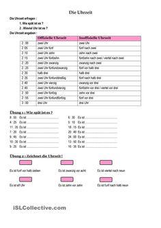 Tagesablauf und Uhrzeit   Deutsch lernen   Pinterest   Uhrzeiten ...