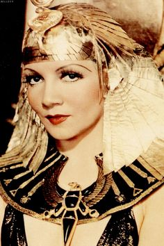 Claudette Colbert as 'Cleopatra' - 1934 - Cleopatra - Costume by Travis Banton - Director: Cecil B. DeMille #egyptomania
