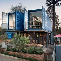 Container House - Kiến trúc Thiết kế - Grgory Audousset quản trị Who Else Wants Simple Step-By-Step Plans To Design And Build A Container Home From Scratch? Building A Container Home, Container Buildings, Container House Plans, Container House Design, Café Container, Container Coffee Shop, Container Office, Shipping Container Home Designs, Shipping Containers