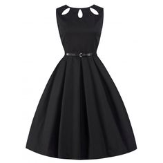 'Lily' Cute And Classy Cut Out Neckline 50's Rockabilly Style Dress