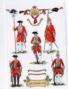 British; 31st Regiment of Foot, Dettingen 1743