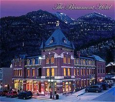 Beaumont Hotel. Ouray Colorado. Look. We are going to Ouray some day. Ok? good.
