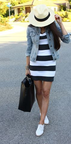 Stripes and denim!  Follow Livingly's boards for more trending fashion ideas.