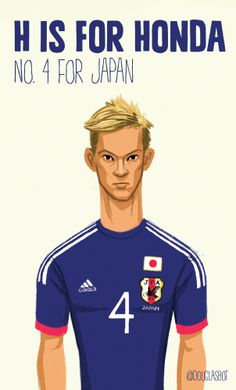 Keisuke Honda - #worldcup2014 Football Pictures, World Cup 2014, Soccer Players, Different Styles, Honda, Coaching, Graphics, Japanese, Baseball Cards