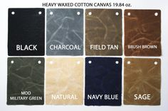 Items similar to 1 YARD - Martinex heavy waxed canvas fabric - thick Oz/sqyd - waxed canvas - cotton on Etsy Canvas Fabric, Canvas Material, Cotton Canvas, Waxed Canvas, Waterproof Fabric, Swatch, Yard, Pattern Ideas, Apron