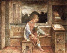 The Young Cicero Reading, ca Vincenzo Foppa. Italian Early Renaissance Painter (ca 1430 - The Orator, Italian Painters, Kids Reading, Reading Art, Reading People, People Sitting, Reading Nooks, Renaissance Art, Italian Renaissance