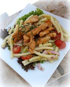 Simi´s Sattmacher- Rezepte und mehr.....: Fruchtiger Nudelsalat mit Hähnchenstreifen