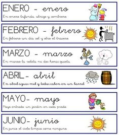 meses del año Spanish 1, Spanish Class, Spanish Lessons, Teaching Spanish, Learn Spanish, Daily Five Organization, Classroom Organization, Organization Ideas, Daily Activities