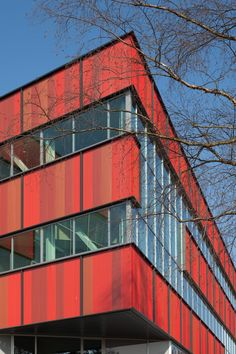 Red hot colours on a super cool school.