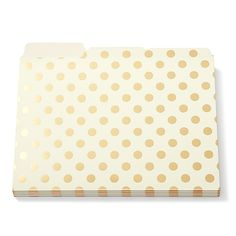 Kate Spade Gold Dot File Folders