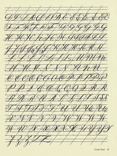 https://flic.kr/p/5iVGrf | Copperplate Practice Sheet 4 | Continuing with majuscule variations