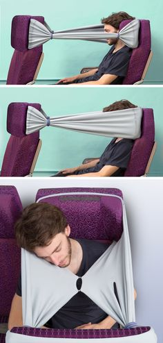 Brilliant Head-Hammock Gives Passengers Privacy In Economy Class - #RichardQuest needs to see this...