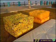 Uma estampa de bananas Karsten de um charme só para uma cliente de Recife-PE | Futon Fonseca | Decorando com Conforto