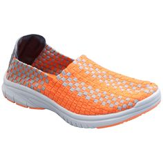 Comfort in the coolest orange color! Cherokee Women's Ultra Step-Inz Textile Woven Shoe.
