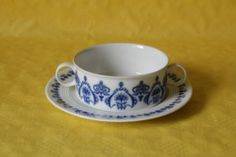 Melitta Friesland Jeverland friesisch Blau Suppentasse Tasse & Untere | eBay 8,55