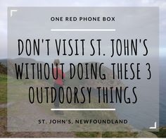 St. John's, Newfoundland: the edge of the world, the eastern-most tip of Canada, and one of the most picturesque places in North America. There are enough views and experiences to have in thi…