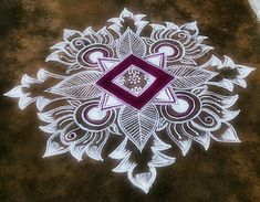 Simple Rangoli Designs Images, Rangoli Designs Latest, Rangoli Designs Flower, Latest Rangoli, Rangoli Border Designs, Rangoli Designs With Dots, Rangoli Designs Diwali, Beautiful Rangoli Designs, Mehndi Designs