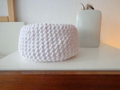 Häkelkorb Utensilio Pure White handmade von flowerchildbyAvK