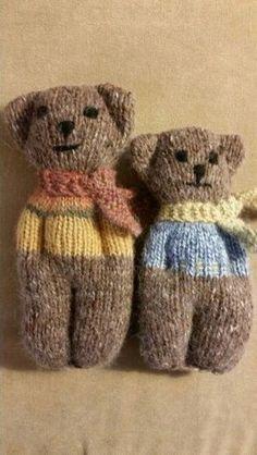 Animal comfort dolls, pattern by PK Olson. - Handarbeit Animal comfort dolls, pattern by PK Olson. Animal comfort dolls, pattern by PK Olson. Knitted Doll Patterns, Knitted Dolls, Baby Knitting Patterns, Loom Knitting, Crochet Patterns, Knitted Poncho, Knit Or Crochet, Crochet Toys, Crochet Baby