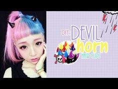 DIY: Devil horn hair clips | Akari Beauty - YouTube