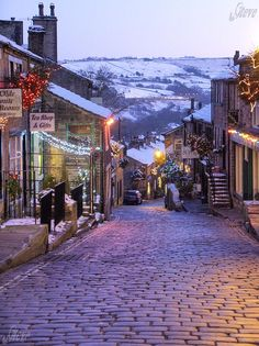 Haworth, West Yorkshire on Christmas Day. Beautiful!
