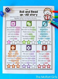 R Controlled Vowels Activities, Vowel Activities, Vowel Worksheets, Speech Therapy Activities, Reading Activities, Reading Skills, Teaching Reading, Learning, Kindergarten Reading