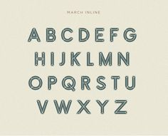March Typefaces on Behance