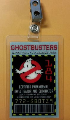 Ghostbusters ID Badge - Certified Paranormal Investigator cosplay costume prop in Collectibles, Science Fiction & Horror, Other Sci-Fi Collectibles   eBay