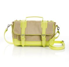 neon yellow satchel