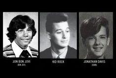 La gallery con le immagini delle rockstar ai tempi della scuola.