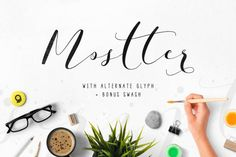 Mostter is modern script font, every single letters have been carefully crafted to make your text looks beautiful. With modern script style this font will perfect for many different project ex: quotes, blog header, poster, wedding, branding, logo, fashion, apparel, letter, invitation, stationery, etc. Mostter script including alternate glyph and beautiful swirl. How to access alternate glyphs: Windows Character Map: