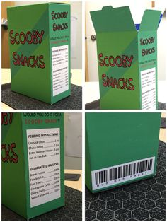 Scooby Snack box I made for Halloween.
