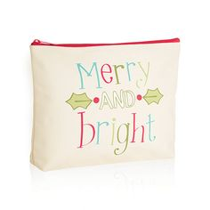 Merry and Bright Zipper Pouch - 3802. Available now October 2015