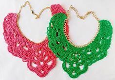 collares a crochet - Buscar con Google