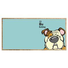 Angry Squirrel Studio Bulldog 13 Desk | DENY Designs Home Accessories
