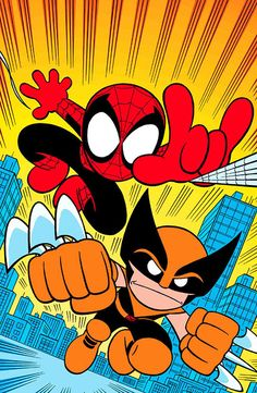 Spidey & Wolverine by Chris Giarrusso
