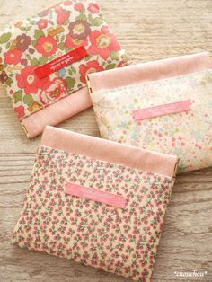リバポケ6 Summer Crafts, Diy And Crafts, Pouch Bag, Tote Bag, Pouches, Snap Bag, Frame Purse, Cosmetic Pouch, Little Bag