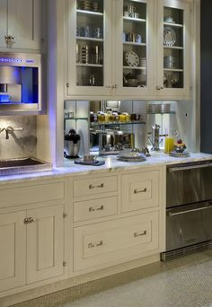 More design build built in coffee station with miele for Things in a coffee bar