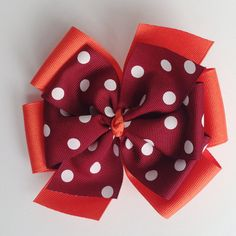 Virginia Tech Hokie 5 inch Layered Hair Bow - Fall Harvest Thanksgiving by KatiebugBows, $7.00