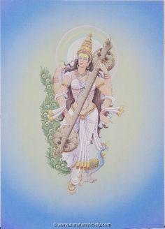 Saraswati Painting, Lord Shiva Painting, Tanjore Painting, Art Drawings For Kids, Cute Drawings, Saraswati Goddess, Tibetan Art, Thai Art, Indian Art Paintings