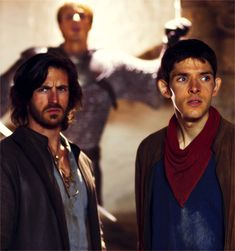 Eoin Macken(Sir Gwaine) & Colin Morgan(Merlin)