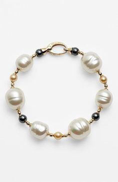 Majorica Pearl Line Bracelet available at #Nordstrom: