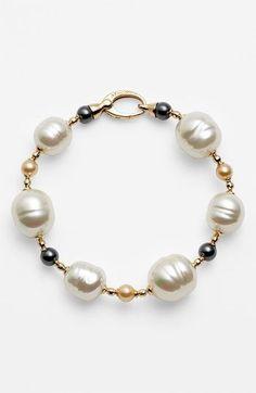 Majorica Pearl Line Bracelet available at #Nordstrom: