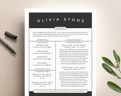Lettre de motivation et CV créatif modèle pour Word | Téléchargement numérique bricolage | Moderne et professionnel deux Page CV Design