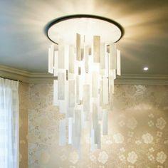 Dining Room Large Chandelier Lighting Alabaster Stone Ceiling 3