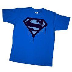Superman Men's - Paint Logo T-Shirt