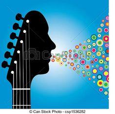 Wektor - Gitara, headstock, Człowiek - zbiory ilustracji, ilustracje royalty free, zbiory ikon klipart, zbiór ikon klipart, logo, sztuka, obrazy EPS, obrazki, grafika, grafik, rysunki, rysunek, obrazy wektorowe, projekt graficzny, EPS wektor graficzny
